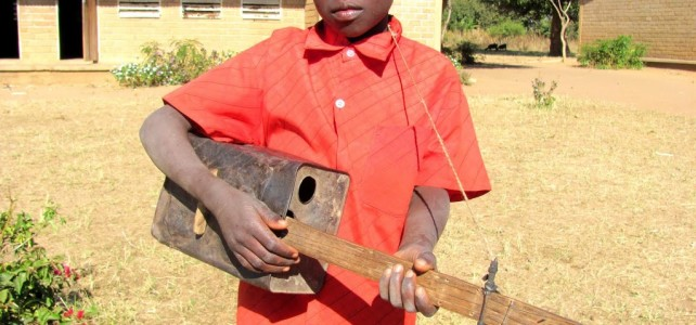 Malawian Musical Instrument – Hand Made Guitar
