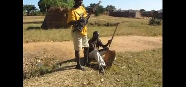 Village Musicians playing Hand Made Instruments