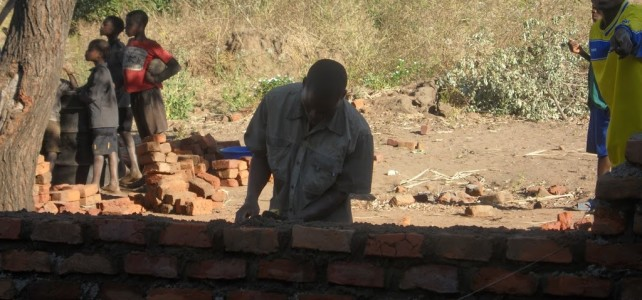 Sacred Heart School Under Construction in Mpenje Village, Malawi