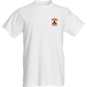 generis international white T-shirt chect log