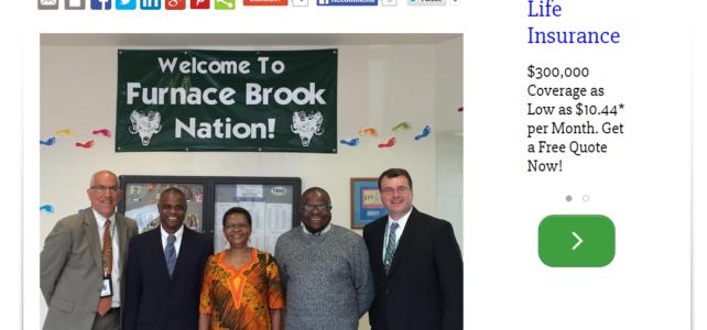 Ugandan Ambassador thanks Furnace Brook for work in Africa
